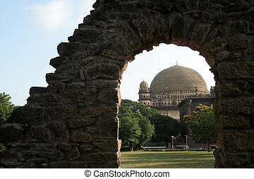 Framed Gol Gumbaz - World famous Gol Gumbaz framed with...