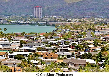 Oahu South Shore Community - Scenic views of a South Shore...