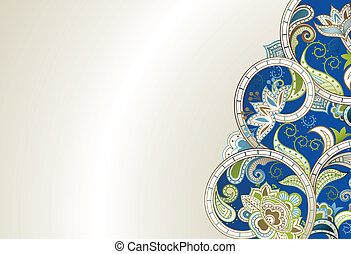Abstract Blue Floral