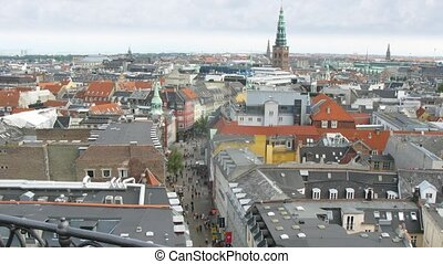 Copenhagen from Rundetaarn tower, time lapse - Copenhagen...