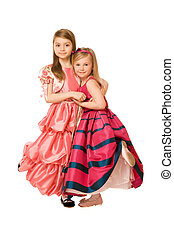 Two attractive little girls