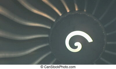 Turbo Jet Engine Spinning - A crazy turbo jet engine spins...