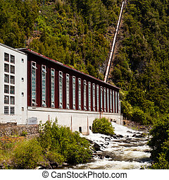 Generator house of hydro-electric power plant