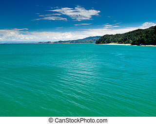 Turquoise waters off Abel Tasman NP, New Zealand