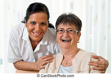 nurse in aged care for the elderly in altenhei
