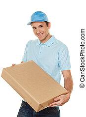 messenger of messenger service provides parcel - a messenger...