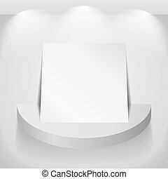 Paper on round shelf, vector eps10 illustration