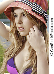 Female with a Sun Hat