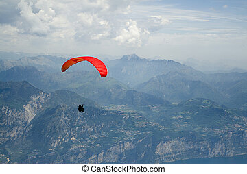 Paragliding in the mountain