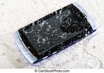 Splashed cellphone - Wet cell phone