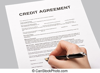 credit agreement - put a signature on an agreement credit