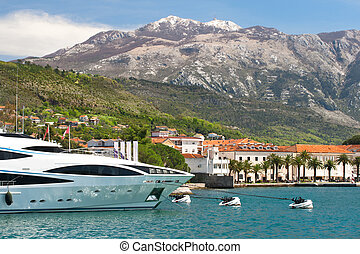 Yacht club in Montenegro