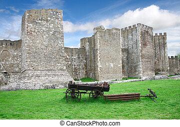 Smederevo fortress on Danube in Serbia