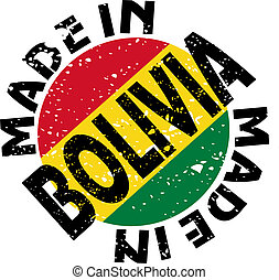 Made in Bolivia - vector label Made in Bolivia