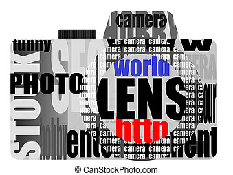 vector still camera from words - Abstract illustration of...