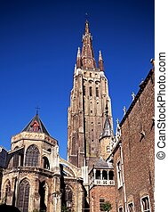 Church of our Lade, Bruges, Belgium - Church of our lady...