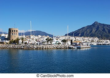 Harbour entrance, Puerto Banus - Harbour entrance with the...