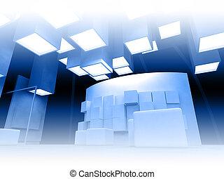 藝術, 現代, 畫廊, 框架, 建築學, 空白, 概念性, 建築物