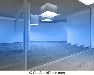 Waiting room in a hospital or clinic with empty space