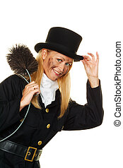chimney sweep. - woman as a chimney sweep. good luck on new...