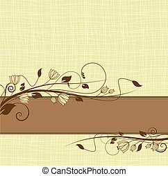 floral - Illustration with ornament for greeting card
