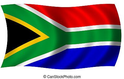flag of south africa in wave - Flag of south africa in waves