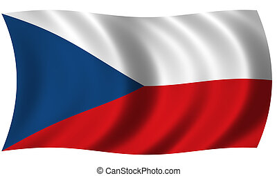 flag of czech in wave