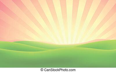 Summer Nature Sunrise Background