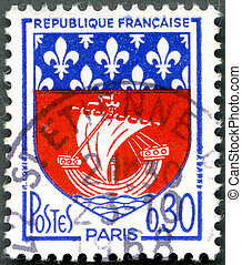 FRANCE - 1965: show Paris Coat of Arms - FRANCE - CIRCA...