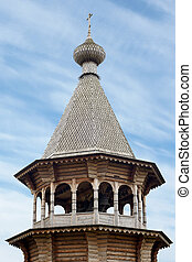 Wooden bell tower of Christ Orthodox church