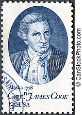 USA - 1978: shows Captain James Cook, by Nathaniel Dance -...