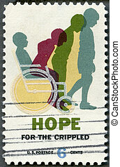 USA - 1969: shows Cured Child, Hope for Crippled Issue - USA...