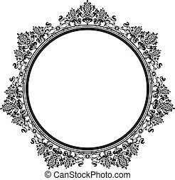 Vector illustration of black vintage frame