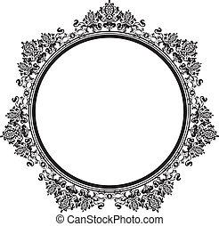 Vector illustration of black vintage frame