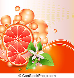 Abstract background with grapefruit
