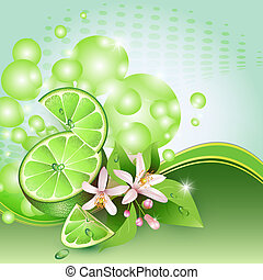 Abstract background with lime
