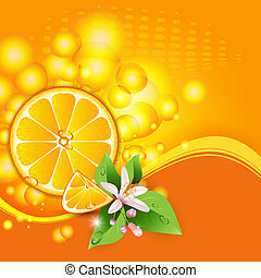 Abstract background with orange - Abstract background with...