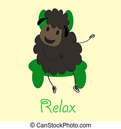 Doodle sheep - vector-image-work-99