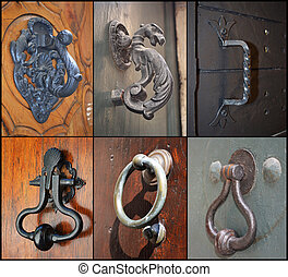 Set of vintage door handles