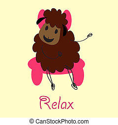Doodle sheep - vector-image-work-180