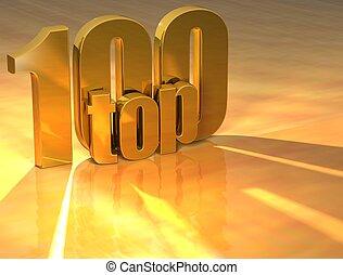 3D Top 100 Gold Text