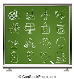 Green and Environment icons - Green, Environment and ecology...