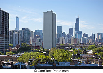 Chicago Skyline During the Daytime - Chicago skyline view...
