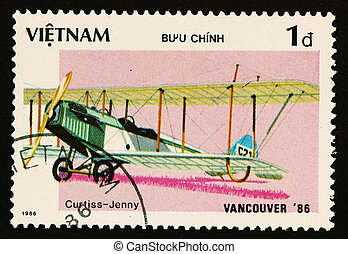 VIETNAM - CIRCA 1986: A stamp printed by VIETNAM shows...
