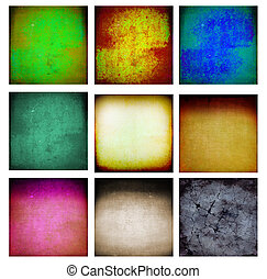 9 abstract grunge wall - Set of 9 abstract grunge wall for...
