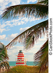 Miami Beach Life Guard Shack - Life Guard Shack on South...