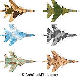 SU 34 Jet fighter - High detailed vector illustration of a...