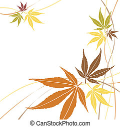 Autumn or fall maple leaves vector - Autumn or fall maple...