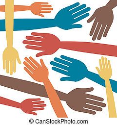 Fun colorful hand design - Fun colorful hand design vector