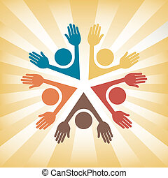 Colorful people vector.  - Colorful people vector design.